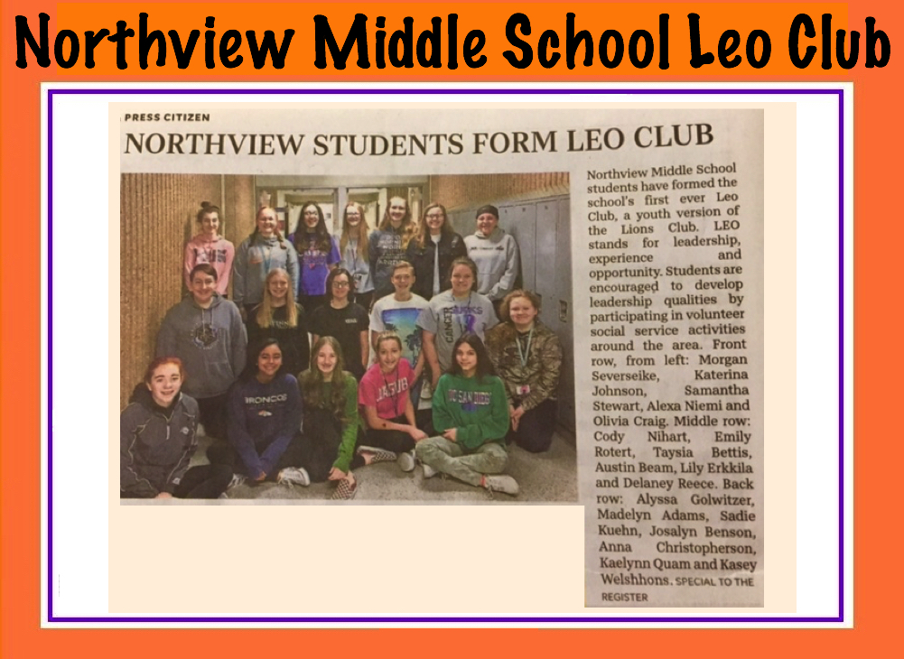 Northview Middle School LEO Club