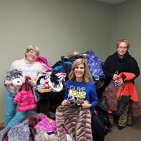 Delivering coats to Clive Community Services
