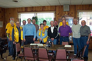 Picture of Sheffield Lions Club taken at Club Meeting 05/06/2010
