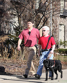 Leader Dog - Solomon (Named after Lion Gary Schriver's 2nd Leader Dog - Solomon) and Randy Cook become 14,000 Team to be assigned by Leader Dogs for the Blind.